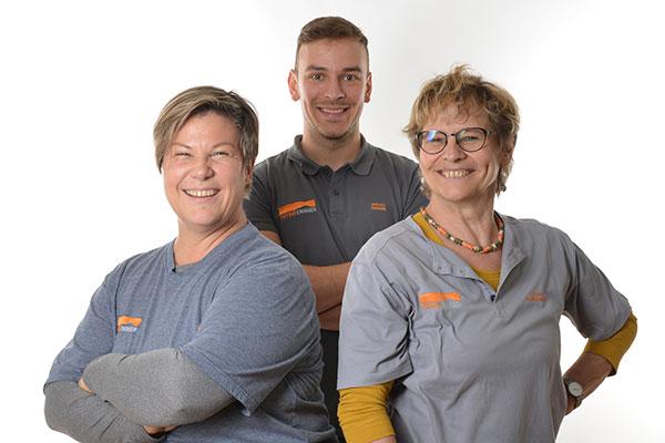 Das PHYSIOEningen-Team im Überblick